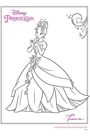Disney Prinzessin Tiana Princess And The Frog Coloring