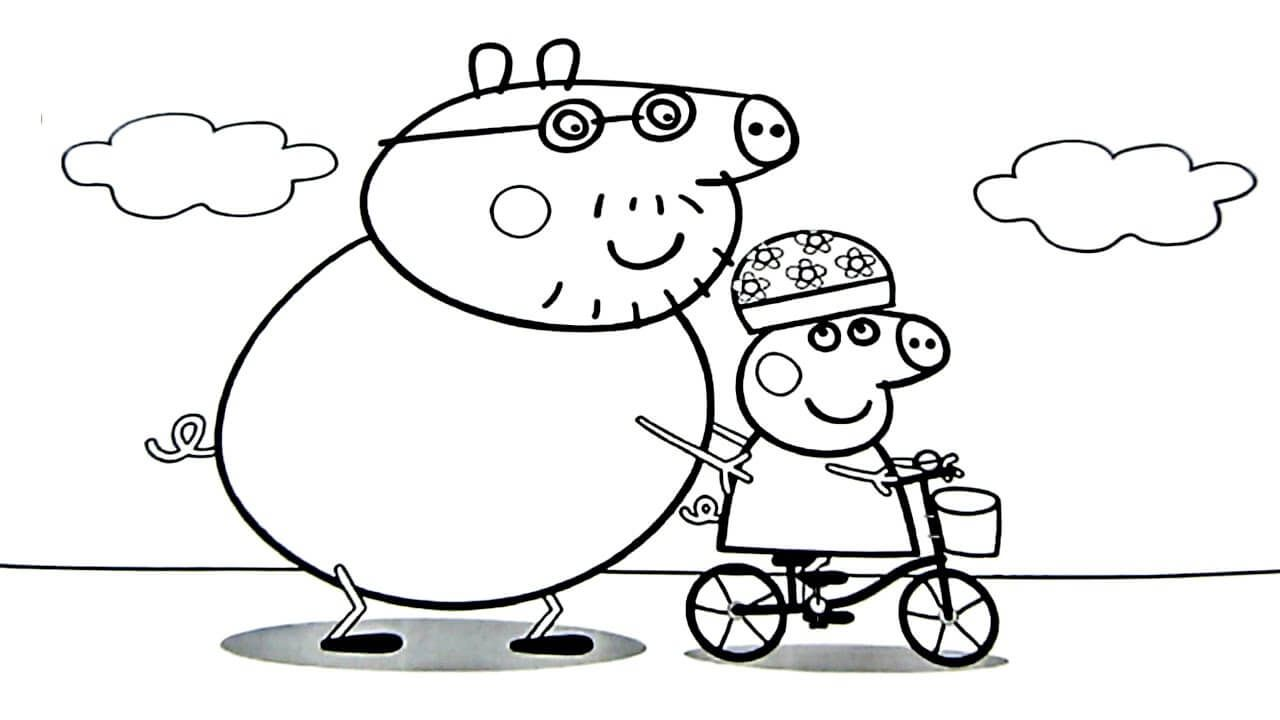 46+ Peppa pig coloring pages george ideas