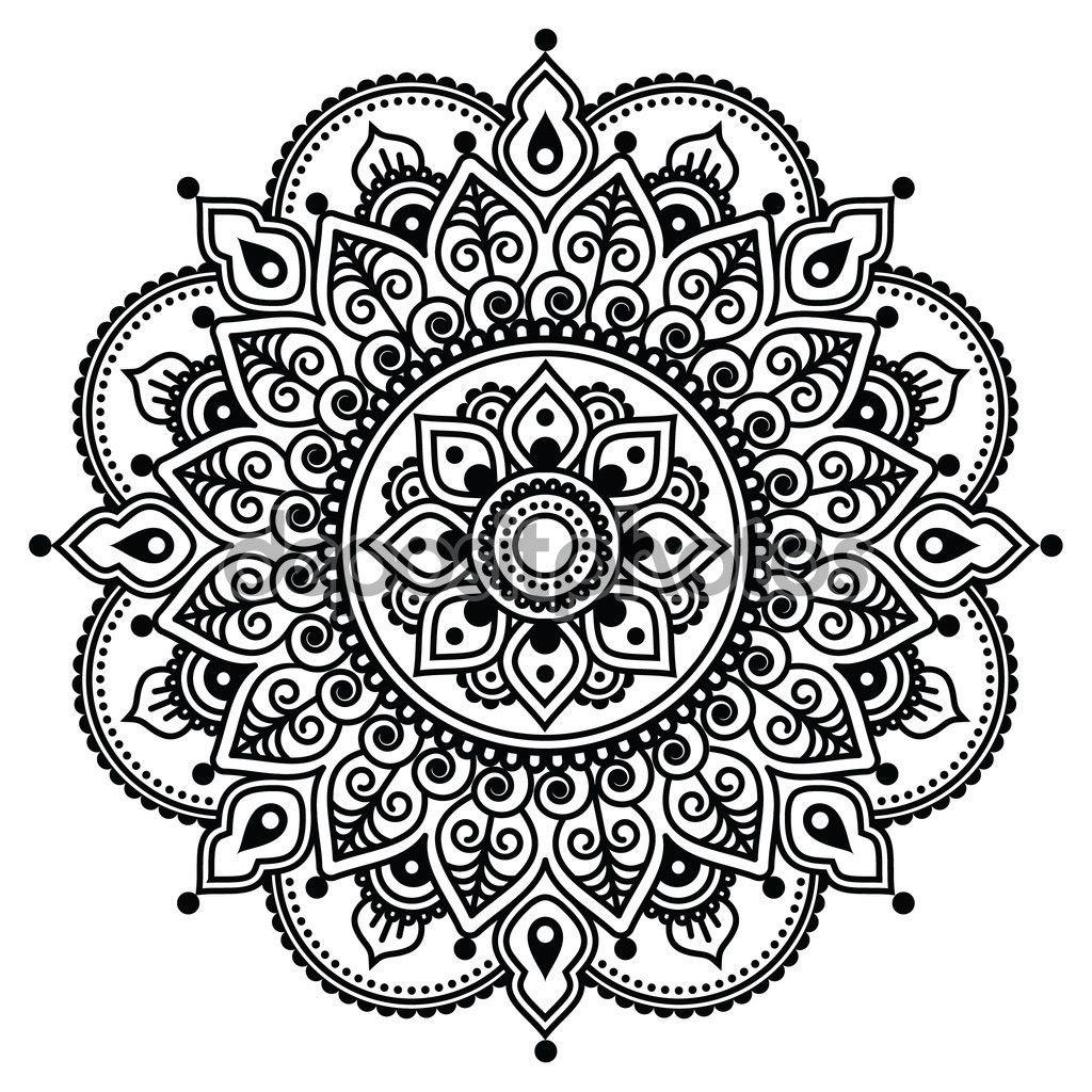 309 Best Images About Crossover Stuff On Pinterest: Mehndi, Patrón De Tatuaje De Henna Indio O Fondo