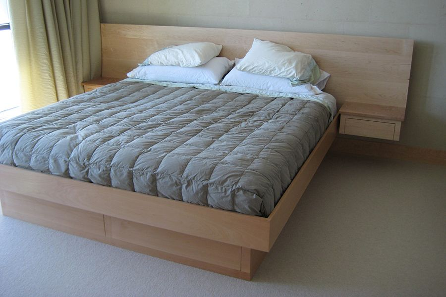 Headboards With Attached Bedside Tables Google Search Bedroom