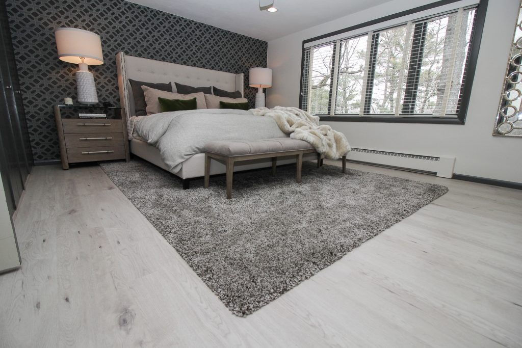 Gray Luxury Vinyl Plank Bedroom Flooring Bedroom Flooring Luxury Living Room Carpet Design