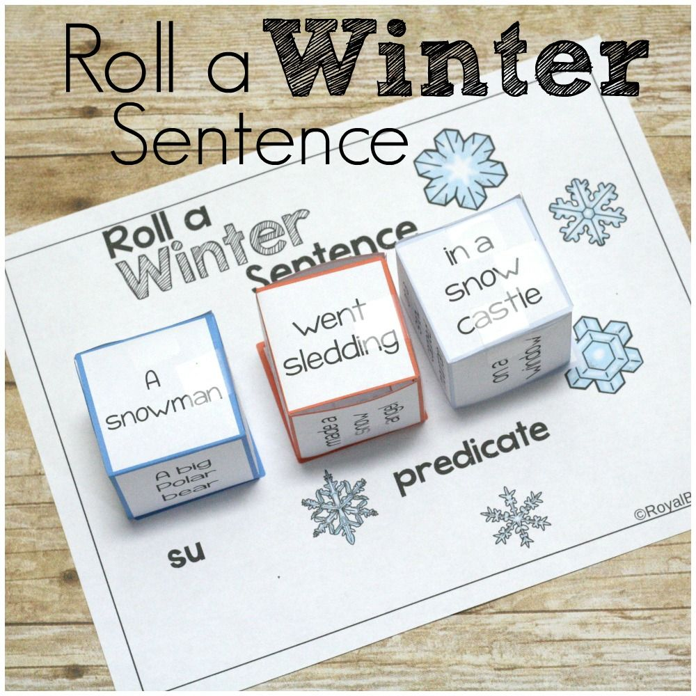 Make writing and reading fun with Silly Sentences! Roll a winter sentence is a fun way to practice both skills with a winter theme!