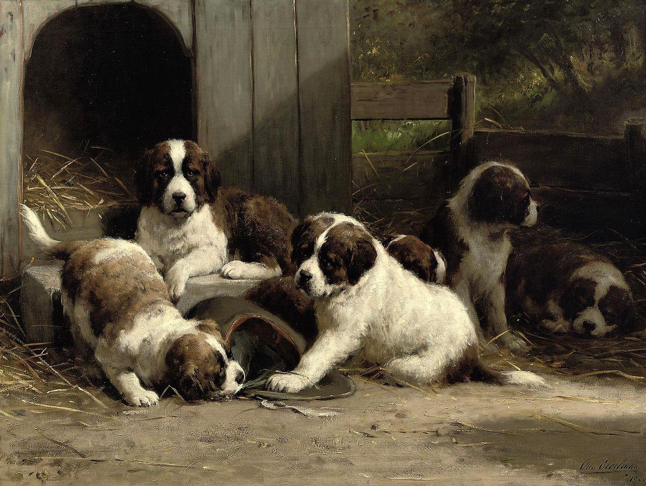 Dog... Otto Eerelman (Dutch, 1839-1926) . Обсуждение на LiveInternet - Российский Сервис Онлайн-Дневников