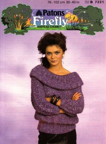 Patons Firefly Double Knit Vintage Knitting Pattern B7331 ...