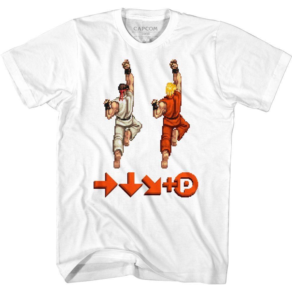 Street Fighter 2 Video Game Hadoken Adult T Shirt