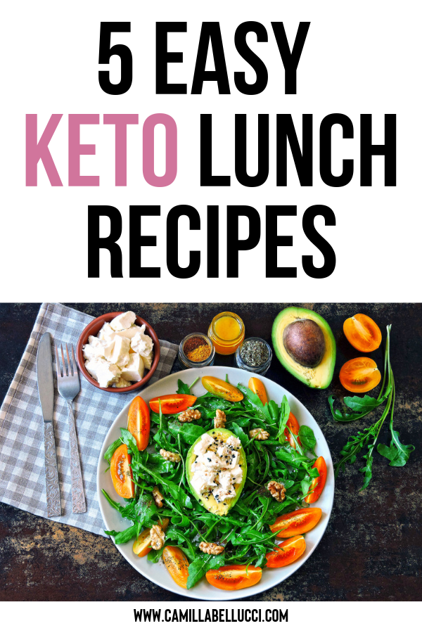 5 Easy Keto Lunch Recipes Lunch Recipes Recipes Diet Breakfast Recipes