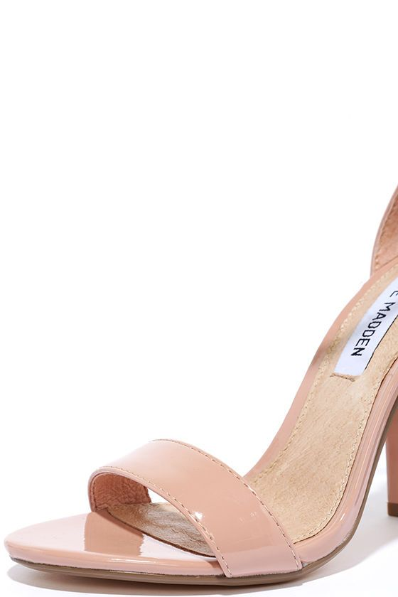 f2114bd6c7d The Steve Madden Carrson Blush Patent Ankle Strap Heels are on fire with a  simple design