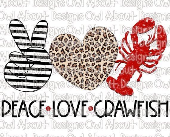Download Peace Love Crawfish Digital Download. Stripes. Valentine's ...