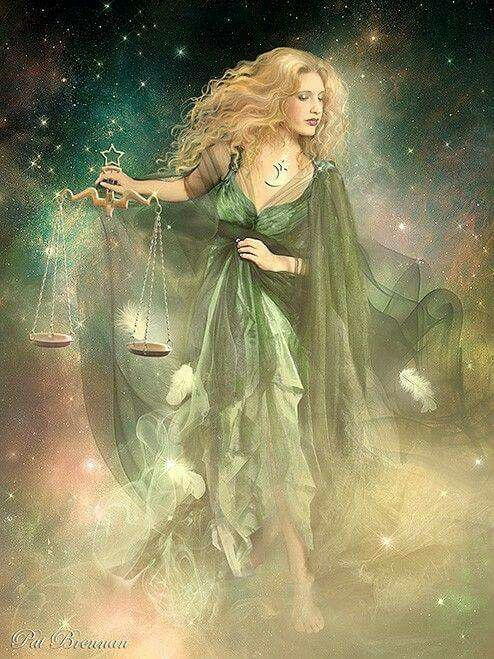 Astraea Goddess Of Starts And Justicescales Greek Goddesses In