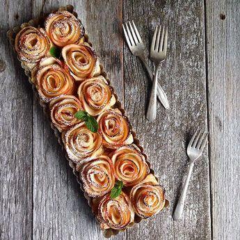 Turn Apples Into a Gorgeous Flower-Shaped Dessert #apfelrosenblätterteig