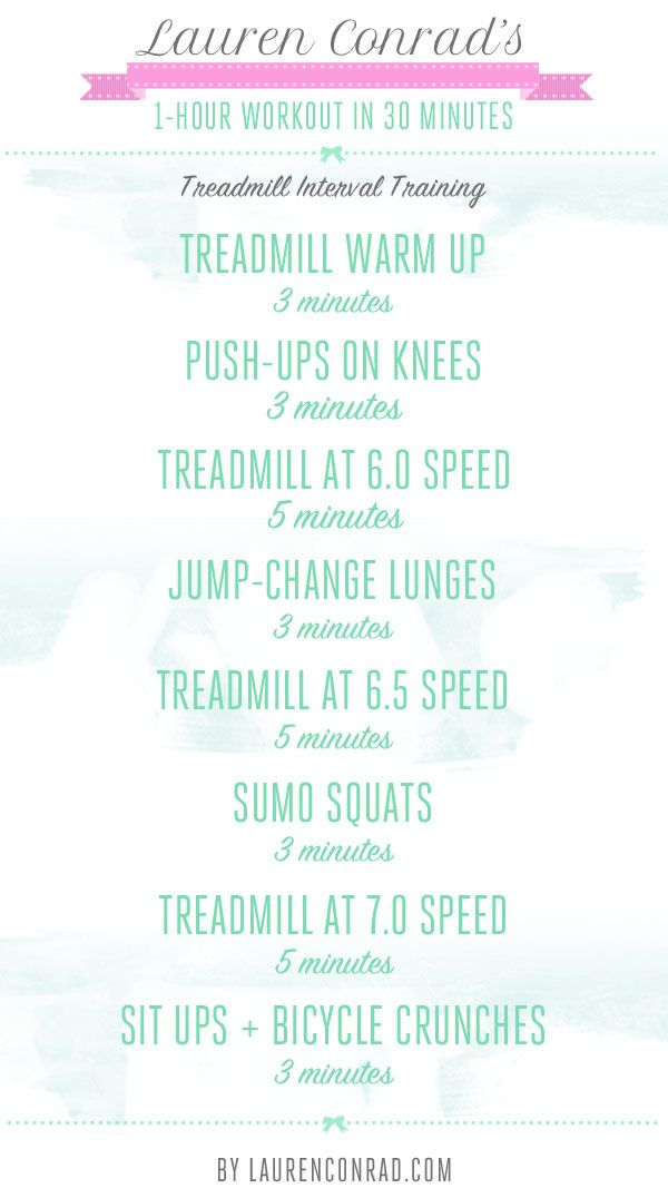 Treadmill Interval Workout -- Shape Up: How to Do a 1-Hour Workout in 30  Minutes