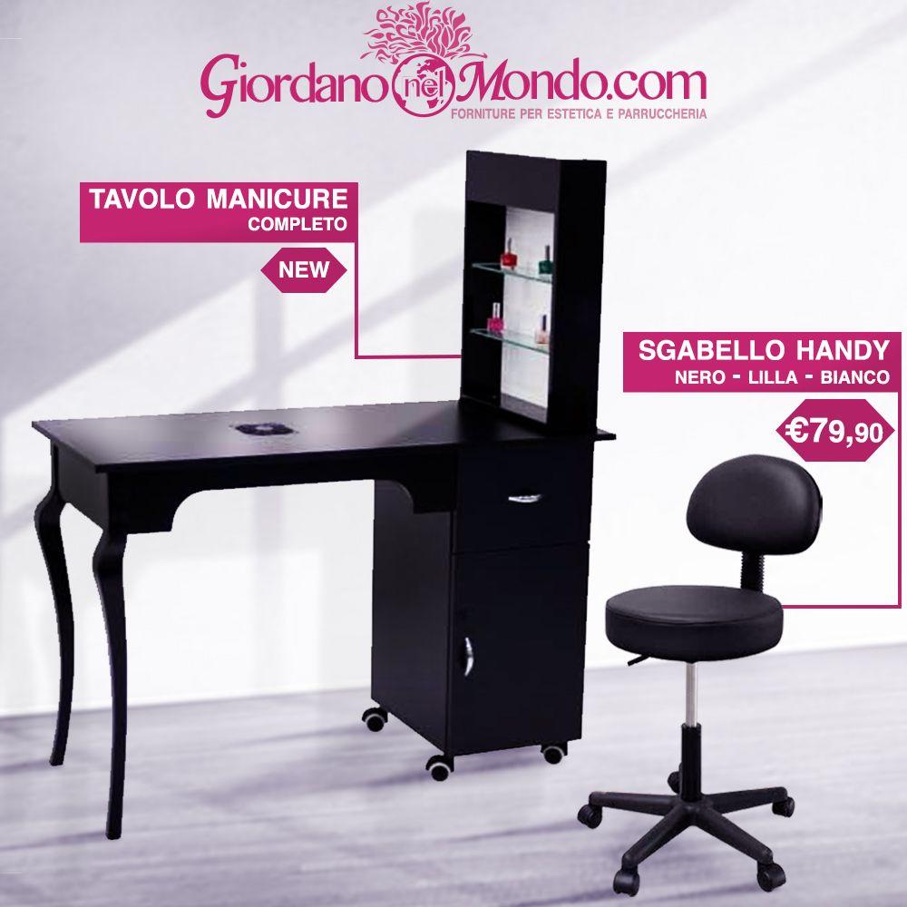 Tavolo Altezza 90.New Tavolo Manicure Con Aspiratore Polveri Sgabello