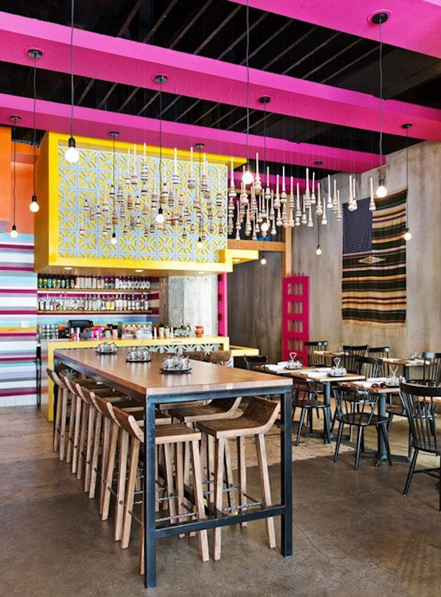 7 Design Restaurants Places To Go And Get Inspired Mexican Restaurant Design Mexican Restaurant Decor Cafe Interior Design