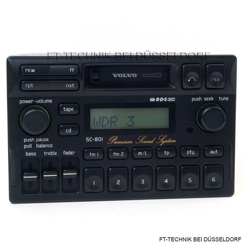 Volvo SC-801 Premium Sound System Radio mit Kassette. Bei uns im ...