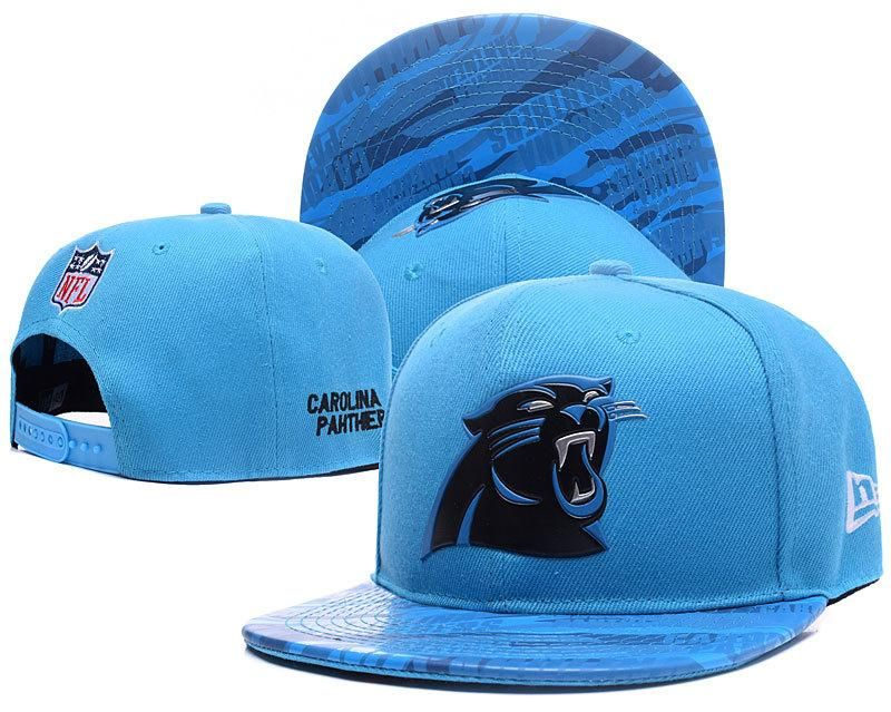 Men s Carolina Panthers New Era Blue Color Liquid Chrome Logo Rush On-Field  Original Fit 9FIFTY Snapback Hat 511328b11