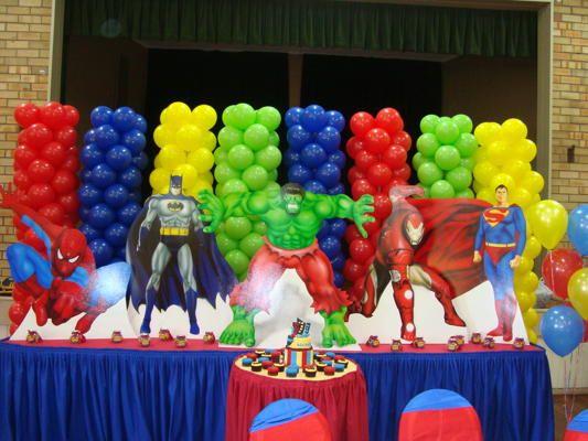 Superhero Themed Party Decorations Superhero Birthday Party