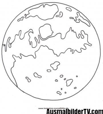 Planet Ausmalbild | Universum | Pinterest | Ausmalbilder, Kostenlose ...