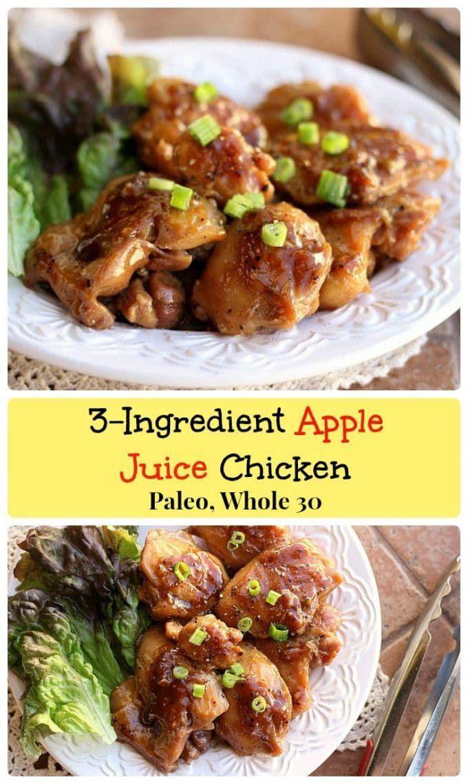3 Ingredient Apple Juice Chicken 100 Organic Apple Juice Reduces