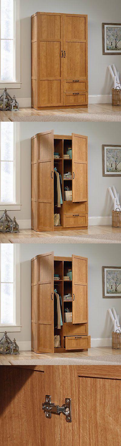 Armoires and Wardrobes 103430: Sauder Large Storage Cabinet, Highland Oak  -> BUY IT - Armoires And Wardrobes 103430: Sauder Large Storage Cabinet