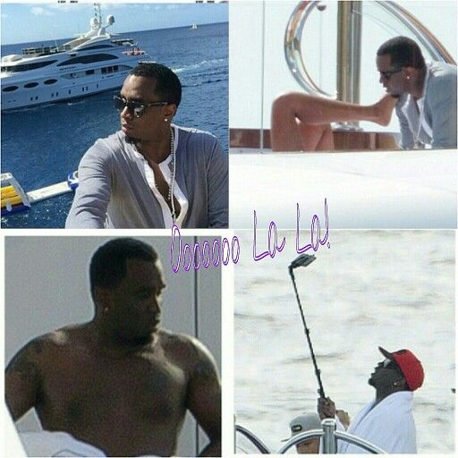 diddy and kimporter took a family christmas vacation on a yacht