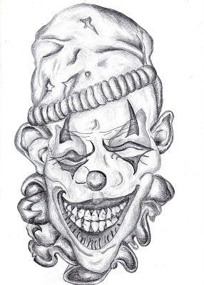 Free Printable Evil Clown Drawings Badass Drawings Joker Drawings Scary Clown Drawing