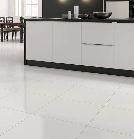 Extreme White Polished Porcelain 600x600 Floor Tile Bright White