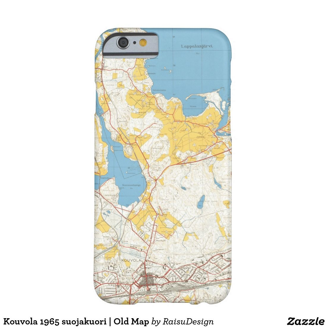 Kouvola 1965 suojakuori Old Map Barely There iPhone 6 Case