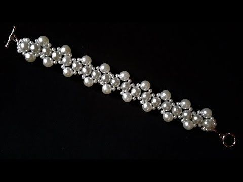 778e119d5 Elegant Evening Beaded Bracelet. DIY beaded Jewelry: Pearls and Crystal  Beads - YouTube
