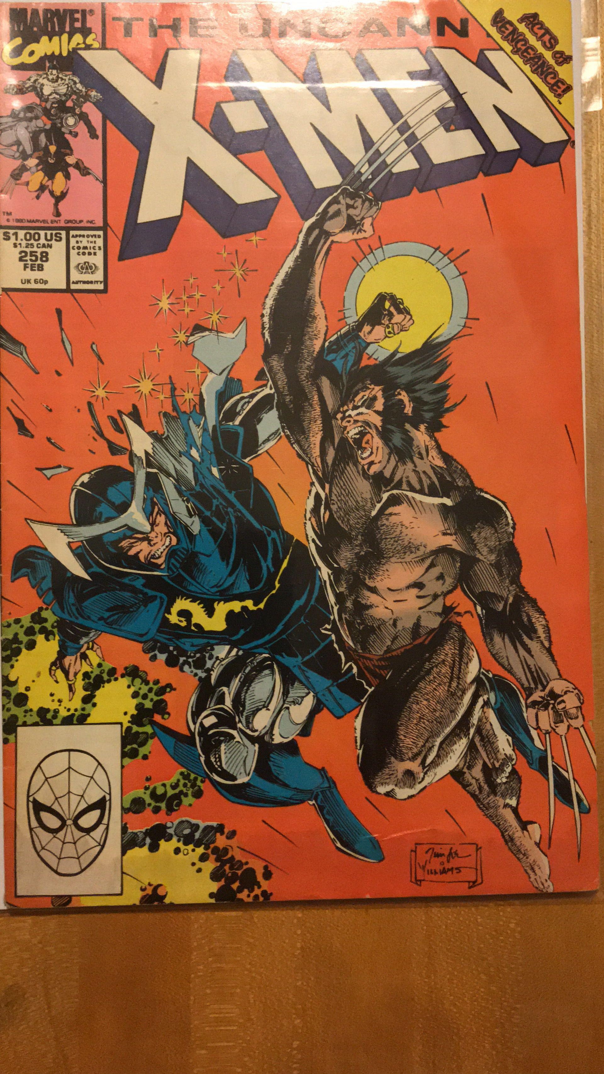 The Uncanny X Men 258 The Uncanny Comic Book Cover Comic Books