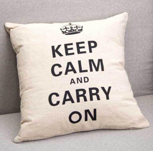 Unique HomewaresKeepCalm Cushion Natural Fibre Fill Allergy Classy Allergy Free Pillow Covers