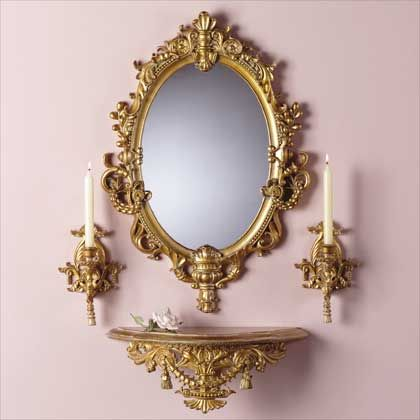 Baroque Wall Mirror http://www.luebeckhaus/catalogue_mirrors.htm | rococco style