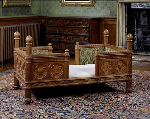 A child's bed made by James Plucknett, 1872