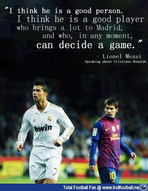 Messi On Ronaldo