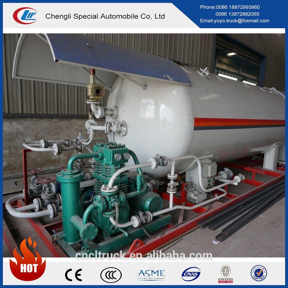 Clw 100cbm lpg gas skid filling station for lpg cylinder