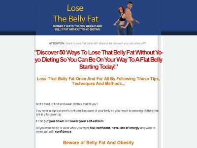 Lose The #BellyFat  - 50 Simple Ways To Lose Weight Without Yo yo Dieting