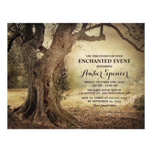 Enchanted Forest Fairy Themed Outdoor Events Flyer Template Flyer - invitation template nature