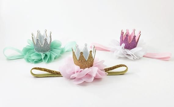 Princess Crown headband, Crown Headband, Newborn Crown, 1st Birthday Crown baby crown Headband,newbo #crownheadband