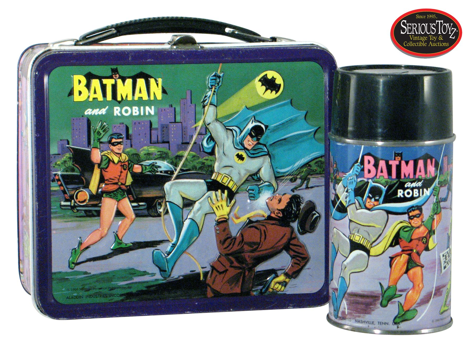 Batman And Robin Metal Lunchbox Vintage Classic