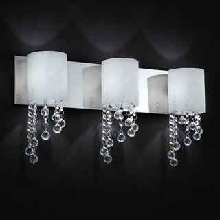 Bathroom Light Fixtures Overstock z-lite jewel chrome 3-light vanity fixture (jewel chrome 3 light