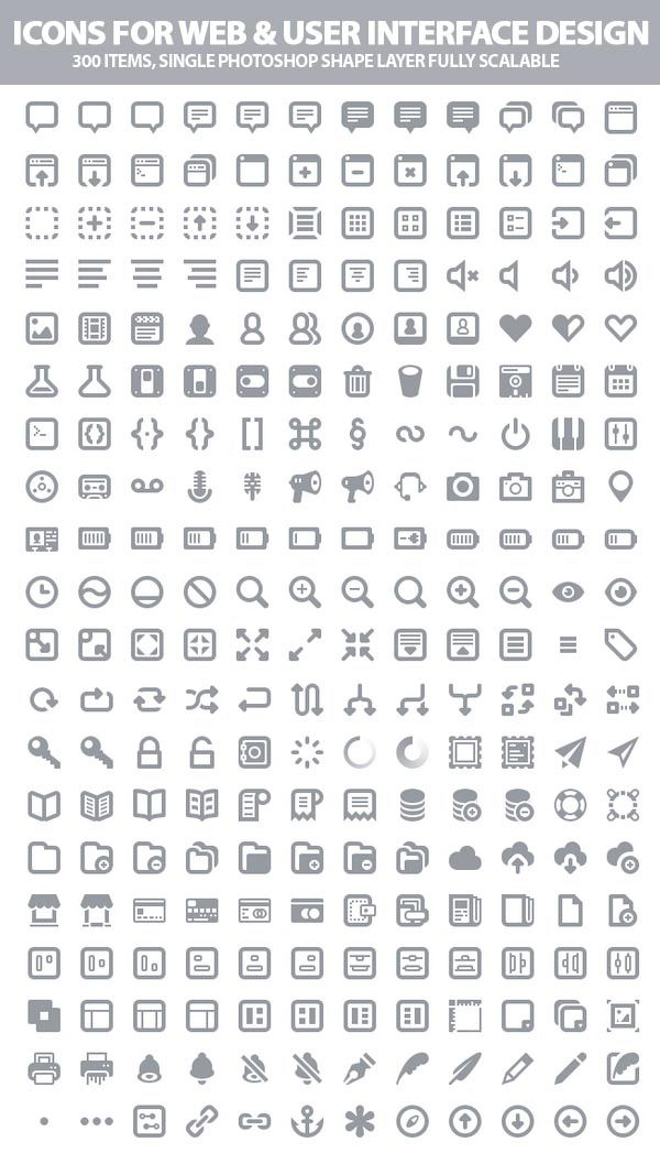 300 Beautiful Icons For Web and User Interface Designers   Icons   Graphic Design Junction