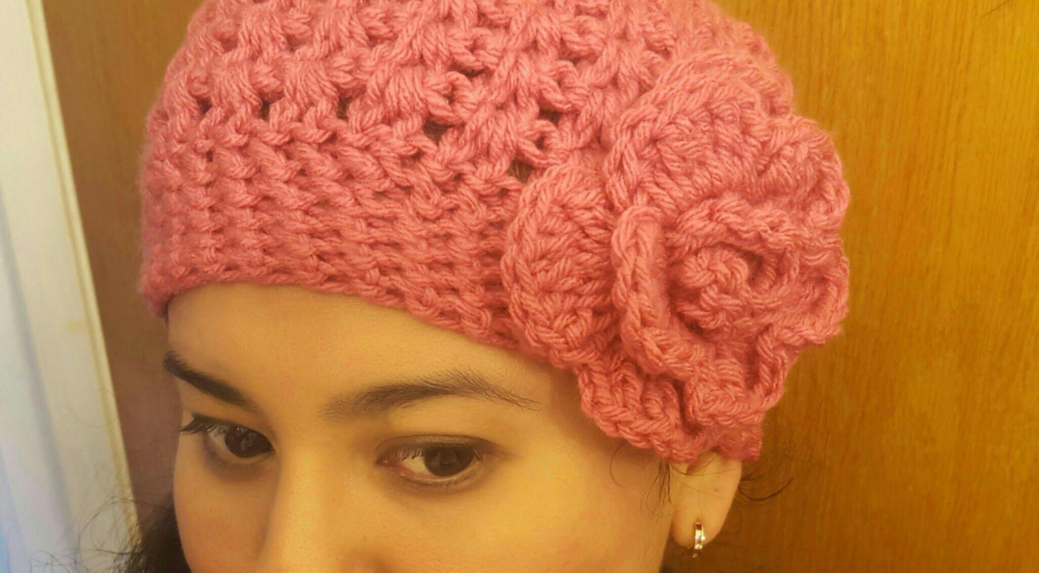 Gorro paso a paso en crochet(ganchillo) para mujer | Flores | Pinterest