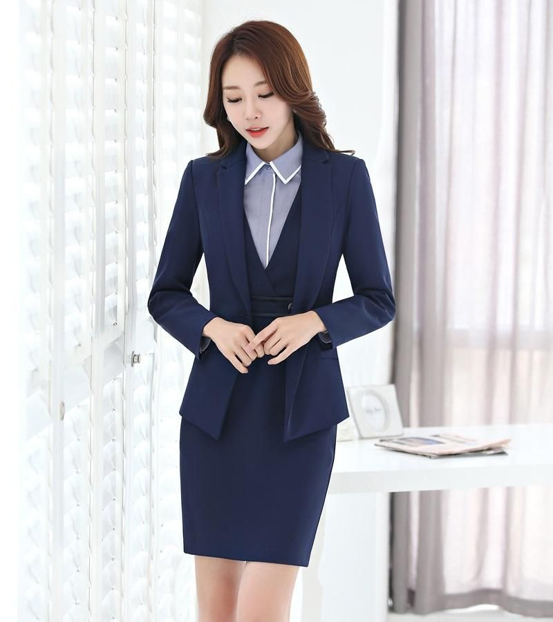 Formal Ladies Dress Suits For Women Business Suits With Blazer And
