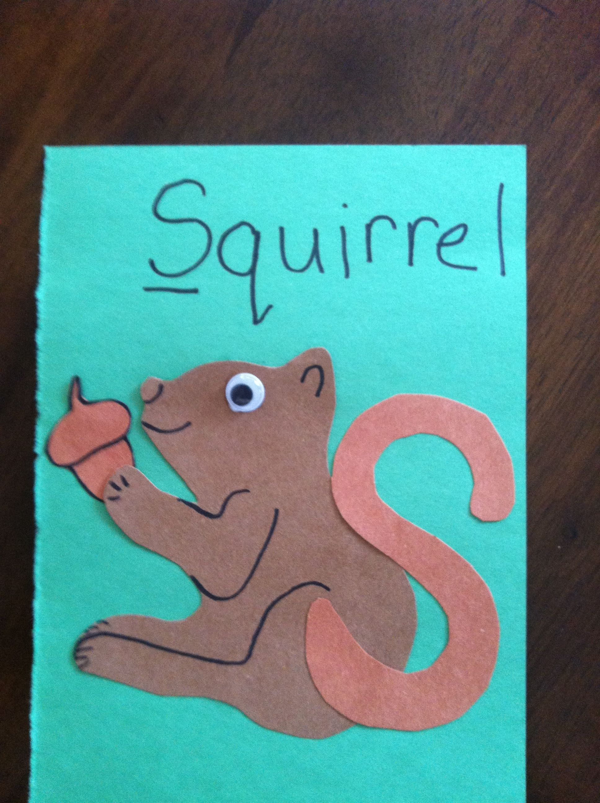 S Is For Squirrel Letter S Craft