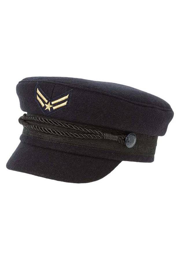 Echtleder Trimm Militär Armee Kappe Hut Neues 100/% Wolle Damen Barett