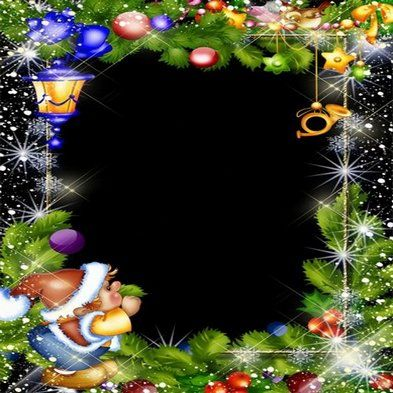 Free psd template children Christmas psd photo frame with a