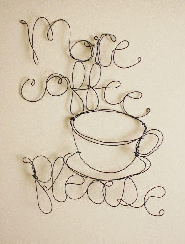 Diy do it yourself wire art craft ideas pinterest artesana diy do it yourself wire art solutioingenieria Gallery