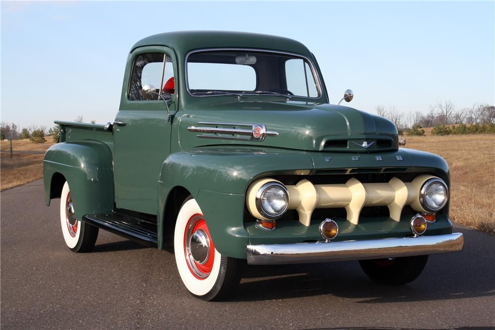 1952 Ford F 1 Shortbox Pickup With Images Ford Pickup Ford