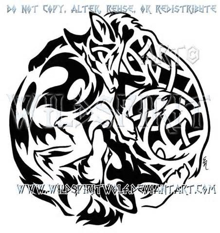 Celtic Wolf Designs Stammes Wolf Wolf Tattoos Stammeszeichnungen