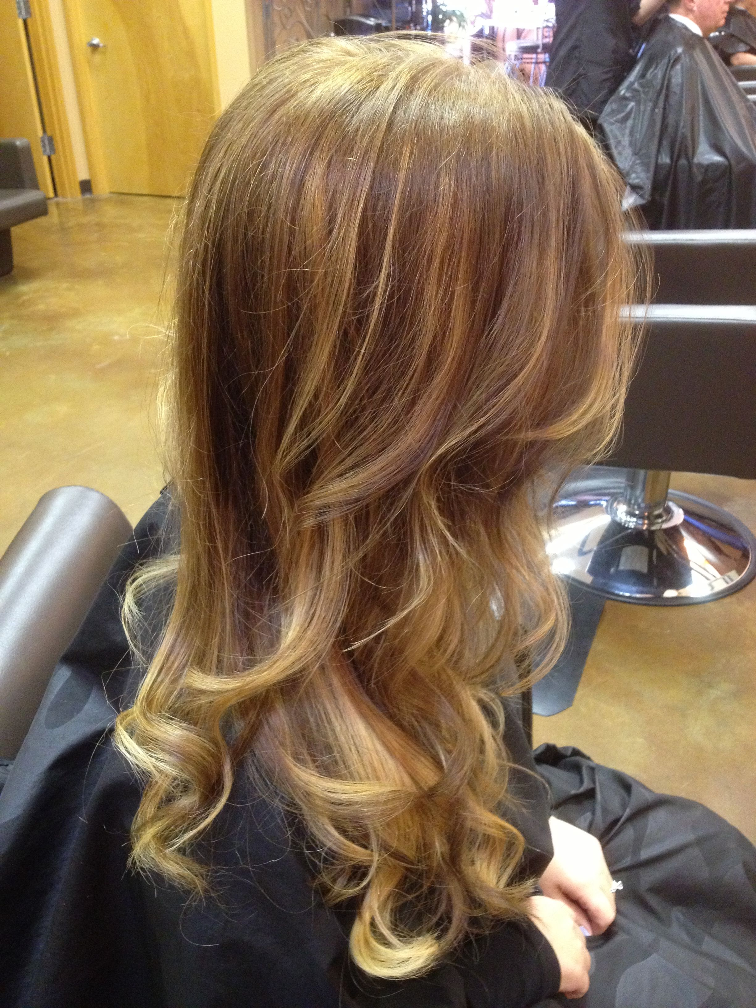 my new color. dark blonde balayage & ombré   wedding hair