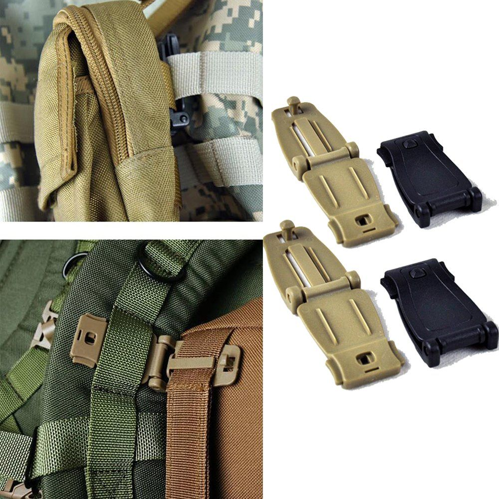 Lefrighttm buckles strap clip belt keeper for molle bag camp lefrighttm buckles strap clip belt keeper for molle bag camp hiking webbing blackkhaki pack of 4 fandeluxe Image collections